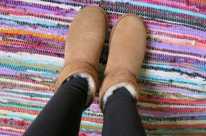 My mom gave me these mini-Uggs for Christmas, and I'm shocked at how often I wear them!
